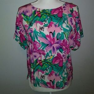 Pretty in pink floral blouse